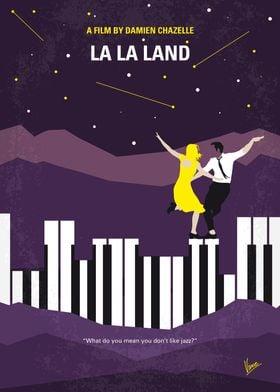 No756 My La La Land minimal movie poster A jazz pianist ...
