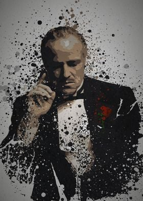 """""""The Father"""" Splatter effect artwork inspired by Don Vi ..."""