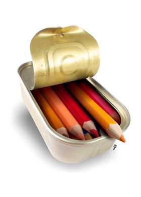 Crayons in a can