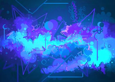Abstract illustration inspired by space and lights hitt ...