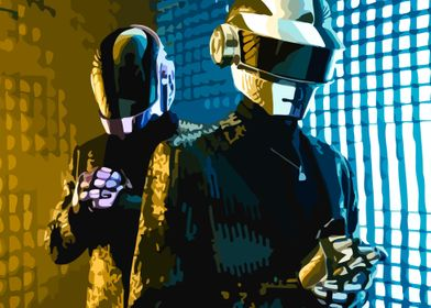 Daft Punk - Gold & Blue