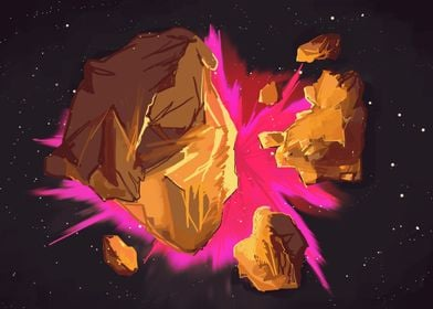 In space, no one can hear some rocks sneakily exploding ...