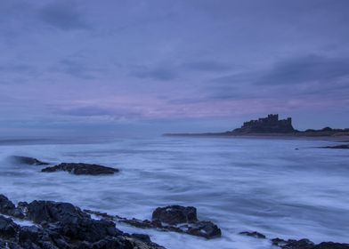 A long exposure of Bamburgh Castle, Northumberland, tak ...