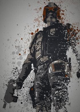 """""""I am the law!"""" Splatter effect artwork inspired by Jud ..."""
