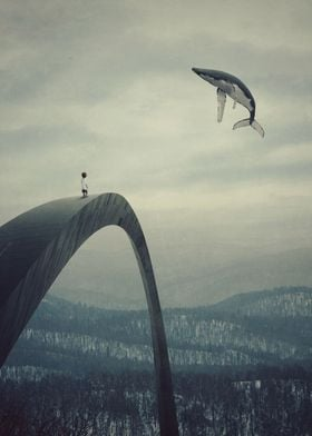 Boy and the flying whale