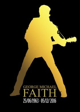 PRINT 1 Gold on Black The Immortal George Michael Died ...