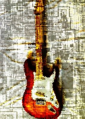 Electric guitar abstract 1