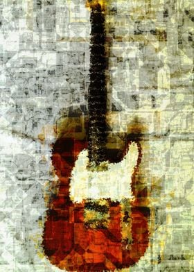 Electric guitar abstract 2