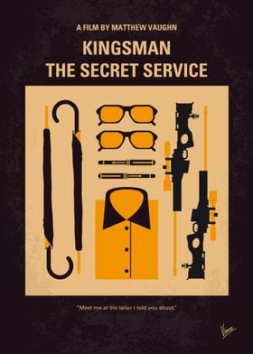 No758 My Kingsman minimal movie poster A spy organizat ...