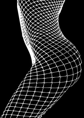 Shadows. A minimal black and white female silhouette a ...