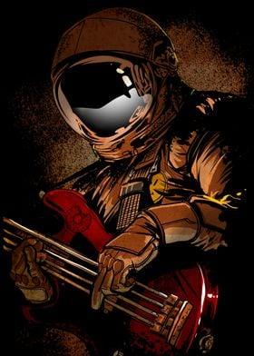music,bass,guitar, cosmonaut