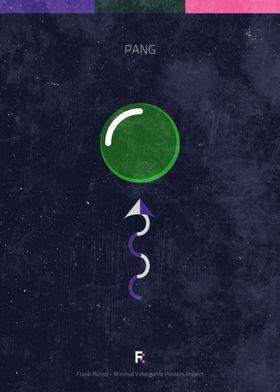 Pang. Minimal Videogame Poster.