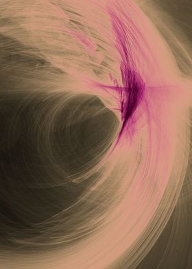 an abstract pink feather