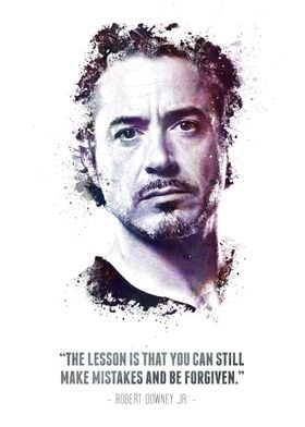 The Legendary Robert Downey Jr. and his quote.