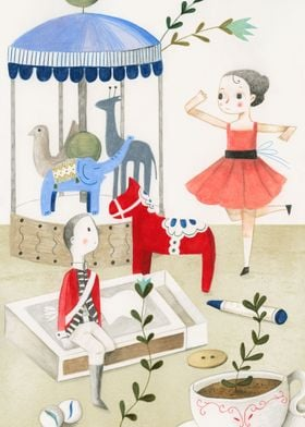 Illustration of the fairytale 'The Brave Tin Soldier' b ...