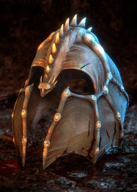 Just a bloody dragonslayer helmet