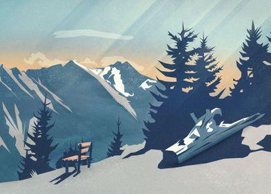 Mountain Sunrise | Digital Art, 2017