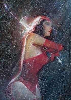 Elektra in the Rain