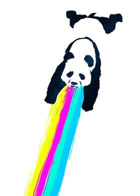 Galactic Hangover Panda - Party hard and vomit rainbows ...