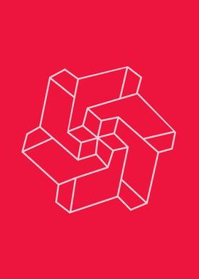 Minimal /  Chakra Symbol Art / Optical Illusion Star Co ...