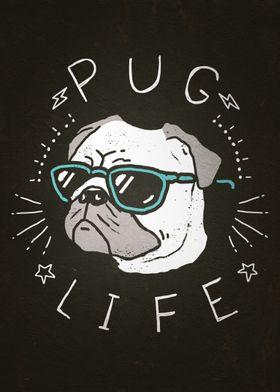 Pug Life by Ronan Lynam - Dogs / Dog Art / Dog Portrait ...