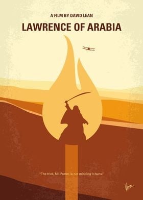 No772 My Lawrence of Arabia minimal movie poster The s ...