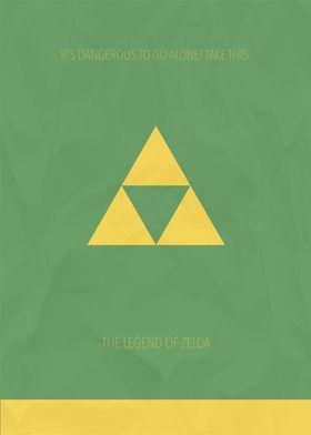 Minimalist Video Games | Legend of Zelda
