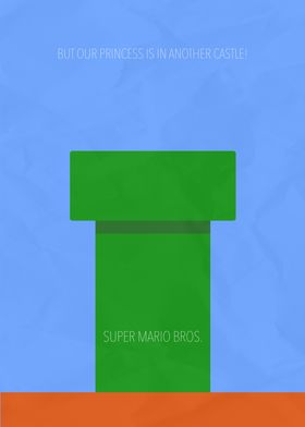 Minimalist Video Games | Super Mario Bros.