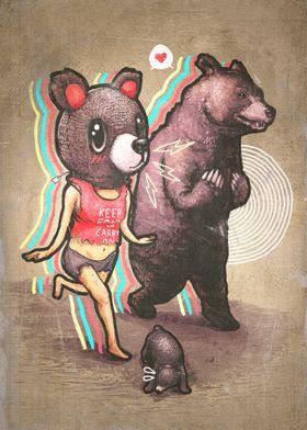 Bear and Woman by Ronan Lynam / Bears / Animal Art / An ...