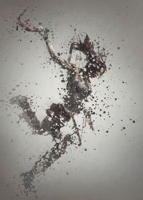 Lara Croft. Splatter effect artwork inspired by the Tom ...