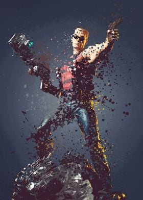 Duke Nukem. Splatter effect artwork inspired by the Duk ...