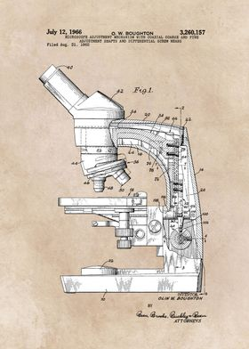 patent art Boughton microscope 1966