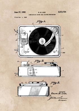 patent art Like combination sound and picture mechanism ...