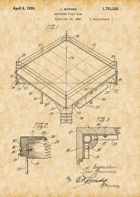 Vintage Boxing Ring Patent