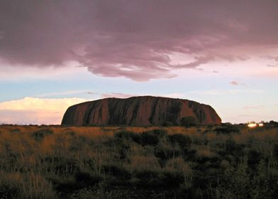 Ayer's Rock/Uluru with bad Weather coming in