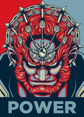 """POWER"" Ganondorf's triforce, He's the evil king of Ger ..."