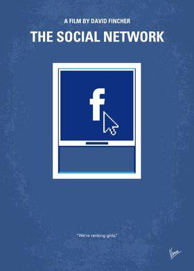 No779 My The Social Network minimal movie poster Harva ...