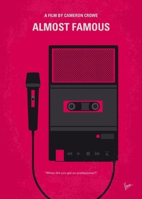 No781 My Almost Famous minimal movie poster A high-sch ...