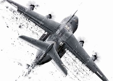 Abstract Shatter image of the A400M Atlas