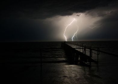Stormy night on the water