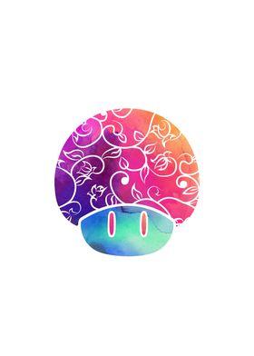 Psychedelic Tie-Dye Shroomy