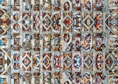 The ceiling of the Sistine Chapel - Reflected.  Michae ...