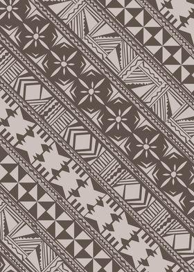 Simple Fijian Masi design in a more Traditional Colour  ...