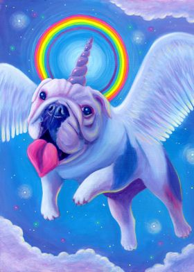 Kittycorn, the Miniature Bulldog Unicorn!
