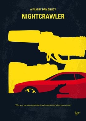 No794 My Nightcrawler minimal movie poster When Louis ...