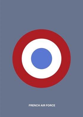 Minimalist French air force  roundel. Enjoy!