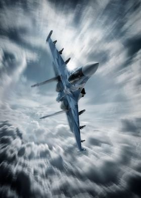 Sukhoi SU35 Flanker Fighter Jet