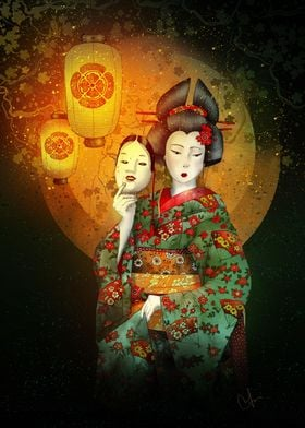 Bunraku is a form of traditional Japanese puppet theatr ...