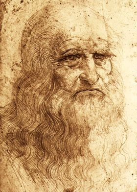Leonardo Da Vinci - Self Portrait Sketch
