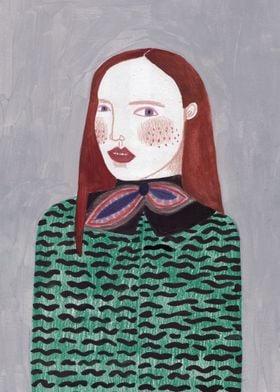 fashion illustration inspired by Kenzo